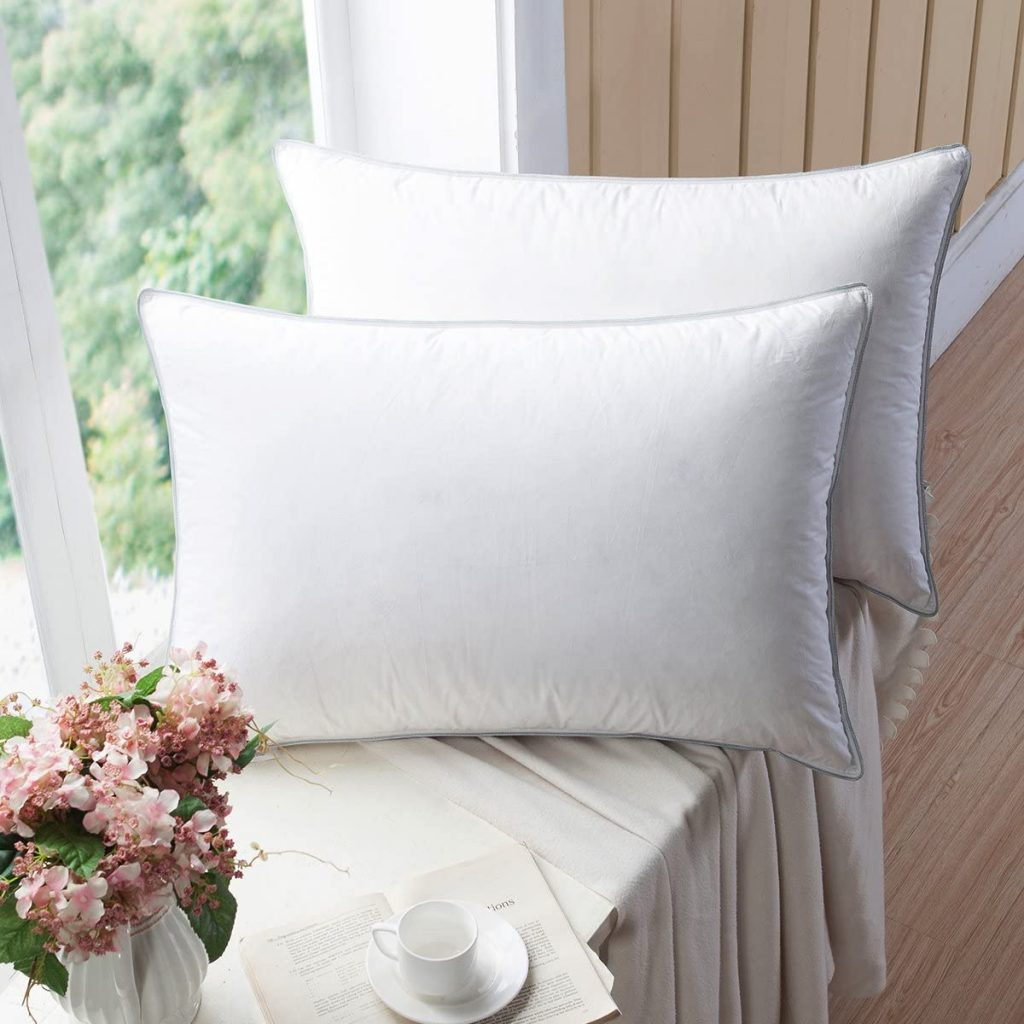 european white goose down pillows
